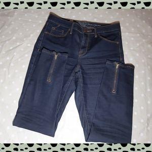 NWOT Skinny jeans high waist - ankle zip